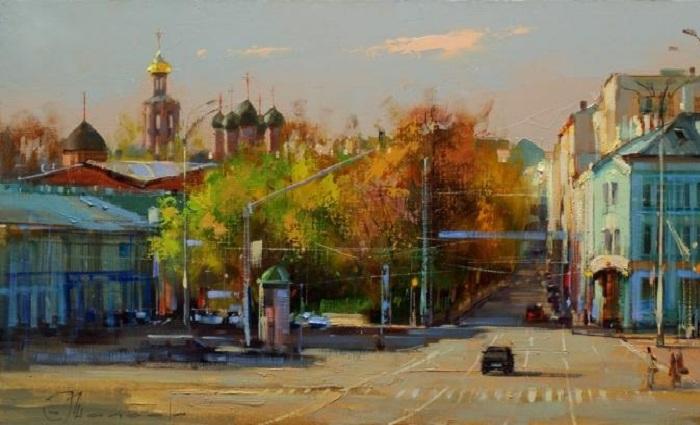 «Бульварная панорама. Москва. Трубная площадь». Автор: Шалаев Алексей.
