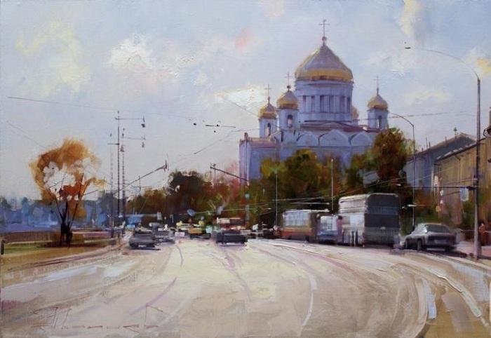 «Пречистенская набережная». Автор: Шалаев Алексей.