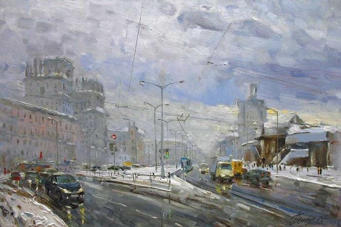 Городские пейзажи Василия Пешкуна.