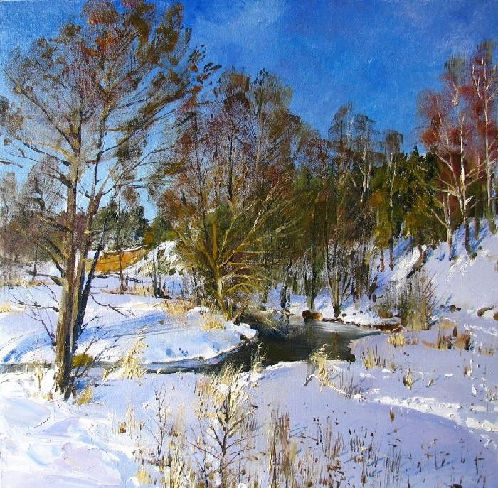 Зимние пейзажи Василия Пешкуна.