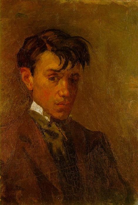 Пабло Пикассо. Автопортрет. (1896 год). Автор Пабло Пикассо.