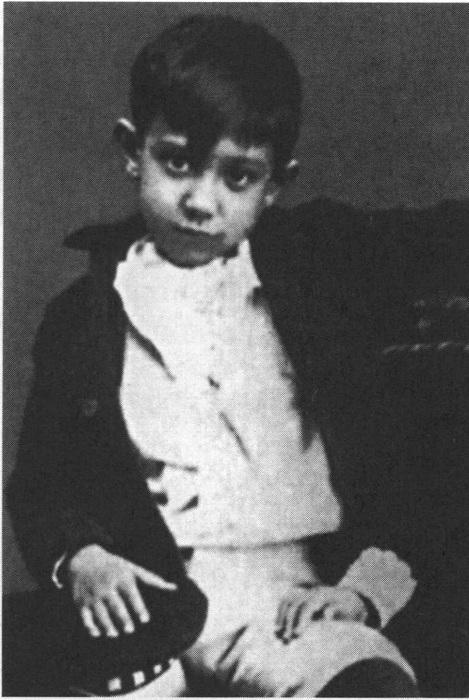 Пикассо в 1888 году.