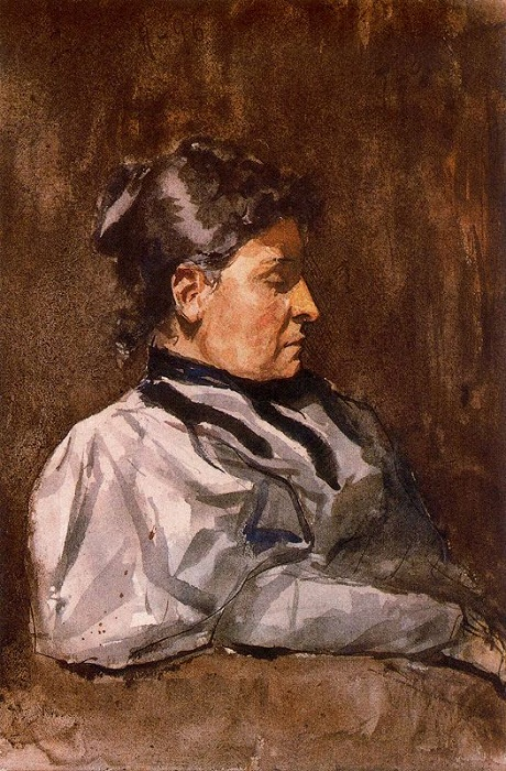 Пабло Пикассо. Профиль женщины (Портрет матери Пикассо). Автор Пабло Пикассо.