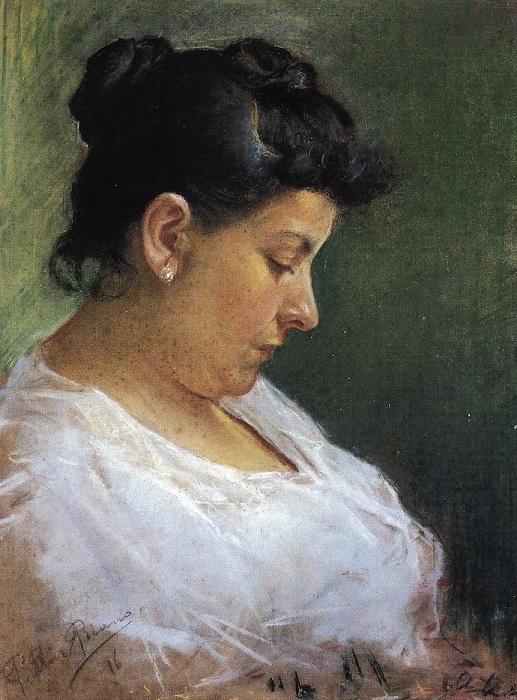 Портрет матери художника. (1896 год.). Автор: Пабло Пикассо.