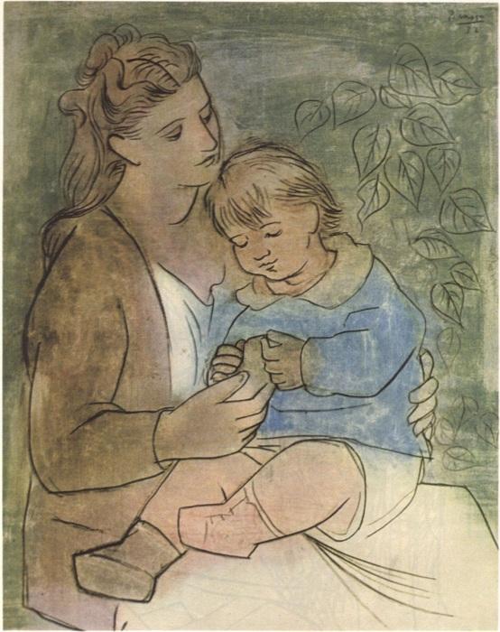 Мать и дитя. 1922. Автор Пабло Пикассо.