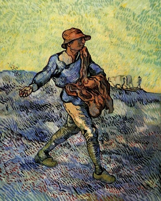 «Сеятель». Автор: Винсент Ван Гог.