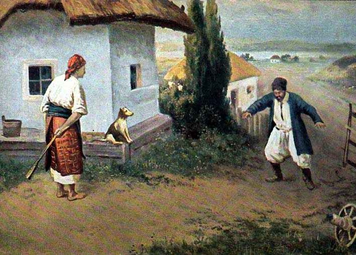 Полотно Н.К. Пимоненко. «До дома».