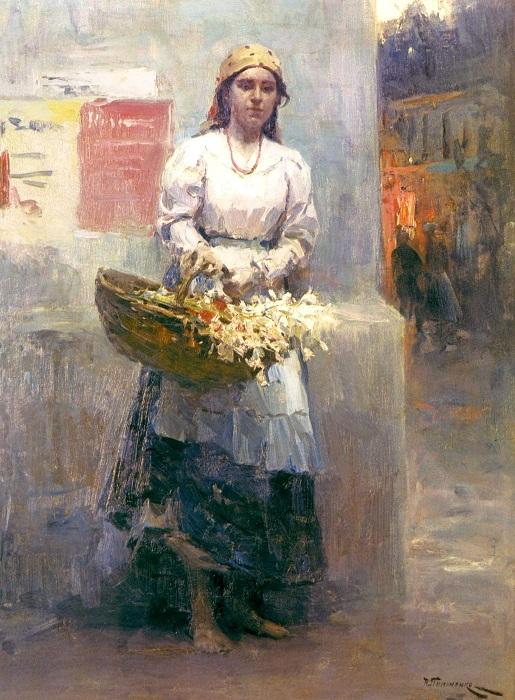 «Цветочница». Автор: Николай Пимоненко.