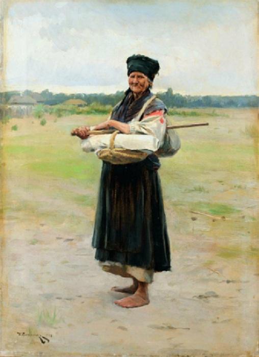 «Продавщица холста». (1901). Автор: Николай Пимоненко.