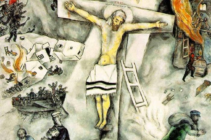 «Белое распятие». (1938 год). Автор: Марк Шагал.