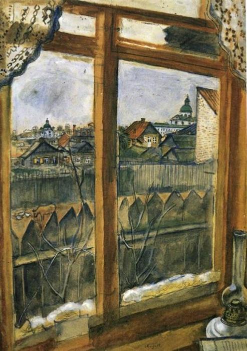 «Окно. Витебск». (1908 год). Автор: Марк Шагал.