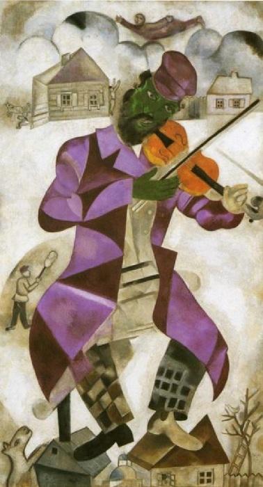 «Зеленый скрипач». (1923-24 гг). Автор: Марк Шагал.