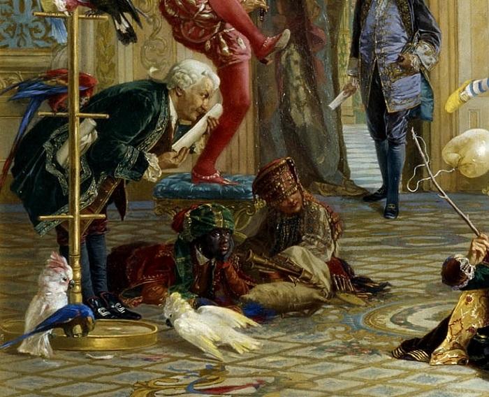 Поэт-шут Тредиаковский с картины «Шуты при дворе императрицы Анны Иоанновны». Автор: В.Якоби.