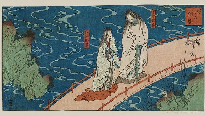 Идзанаги и Идзанами - мифологические герои Японии.
