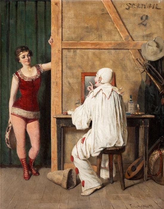За кулисами. Автор: Гиллис Хафстрём (1841-1909).