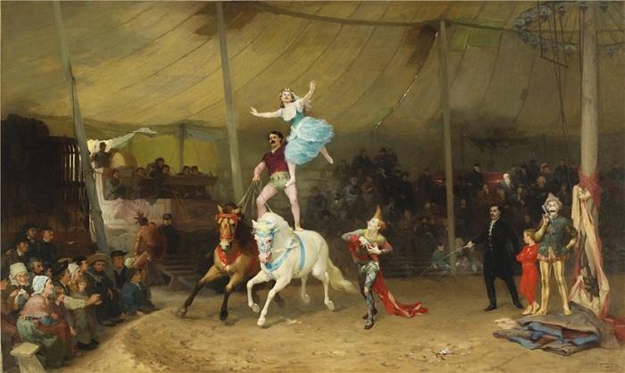 Цирковое представление. Автор: Фредерик Артур Бриджман (1847-1928).