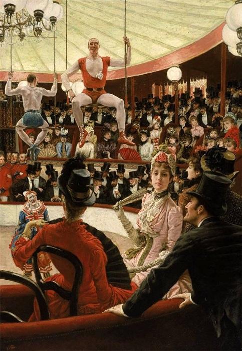 Женщины Парижа, поклонницы цирка. Автор: Джеймс Тиссо.
