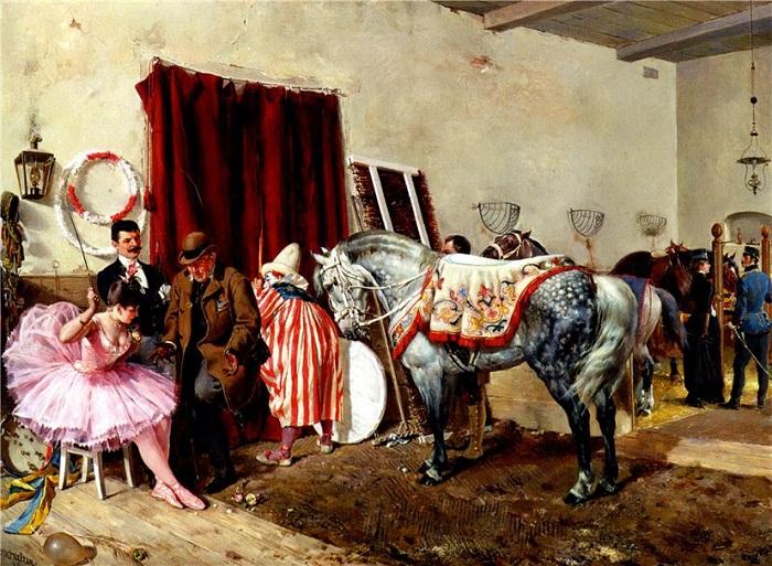 В цирке. Автор: Оттокар Вальтер (1853-1904).