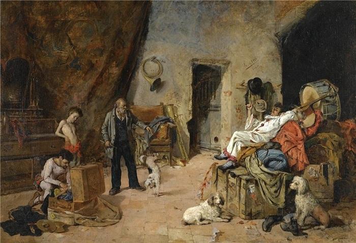 Циркачи. Автор: Висенте Марч Марко (1859-1914).