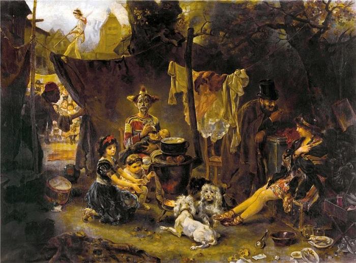 Цирковые дети. Автор: Хьюго фон Прин (1854-1941).
