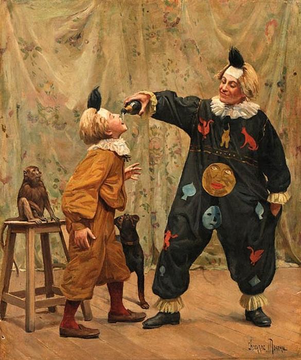 В цирке. Автор: Пол Чарлз Чокарн Моро (1855-1931).