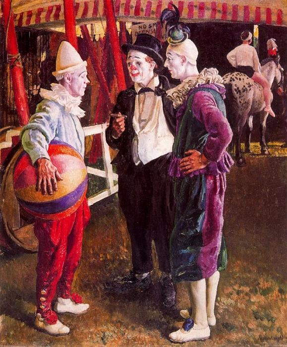 Три клоуна. (1930 г.). Автор: Лаура Найт.