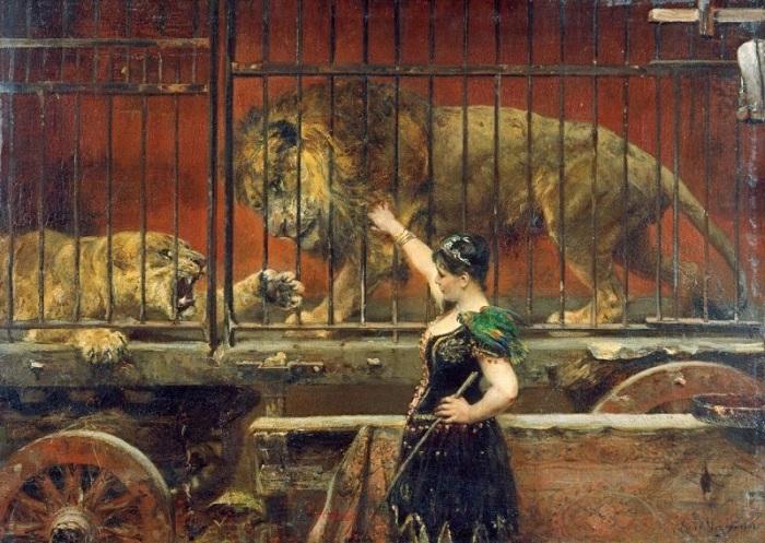 Ревнивая Львица. (1885-1890 гг.). Автор: Пол Фридрих Мейерхайм (1842-1915).
