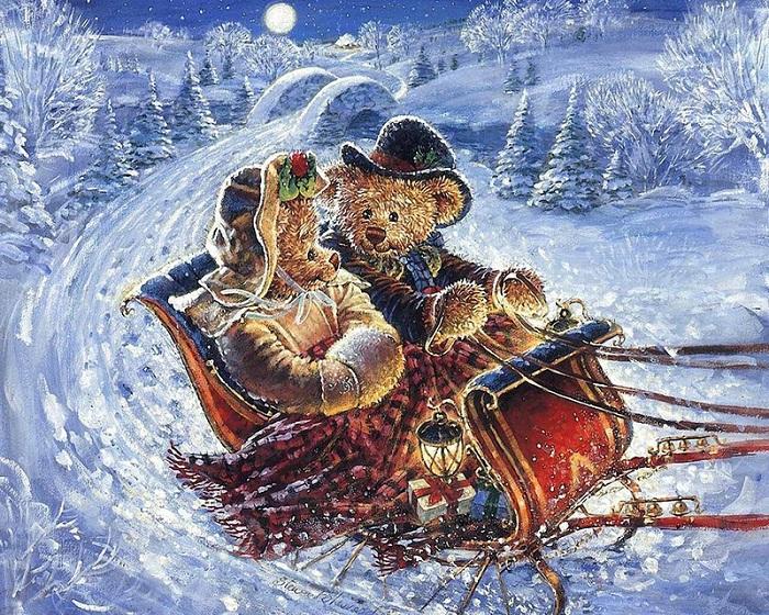 Рождественские иллюстрации от Стюарта Шервуда.