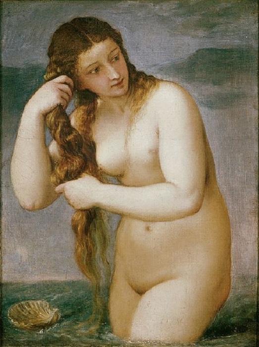 «Венера Анадиомена». (около 1520). Автор: Тициан Вечеллио.