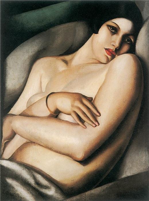 Мечта. Рафаэла на зеленом фоне. Sotheby's. Нью-Йорк, 2011 - $8 482 500.  Автор: Тамара де Лемпицка.