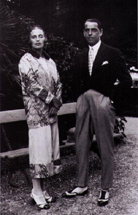 Тамара с мужем Тадеушем Лемпицки.