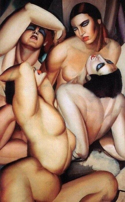 «Группа из четырёх обнаженных». Автор: Тамара де Лемпицка.