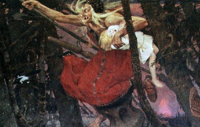 Баба Яга. (1917 год) Автор: Виктор Васнецов.