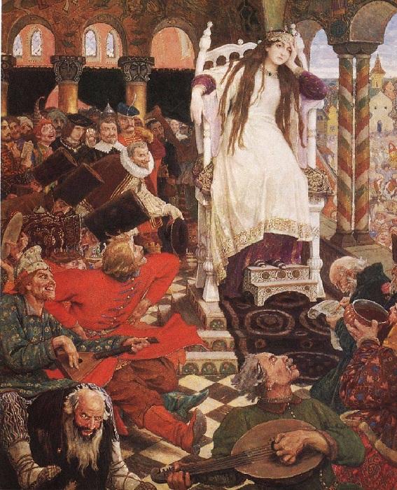 Царевна-Несмеяна. (1916-1926 г.г.) Автор: Виктор Васнецов.