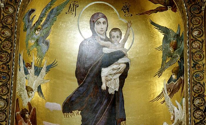 Икона во Владимирском соборе в Киеве. Автор: Виктор Васнецов.