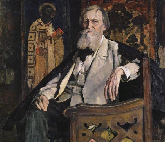 «Портрет художника В.М. Васнецова» (1925 год). Автор:Михаил Нестеров.