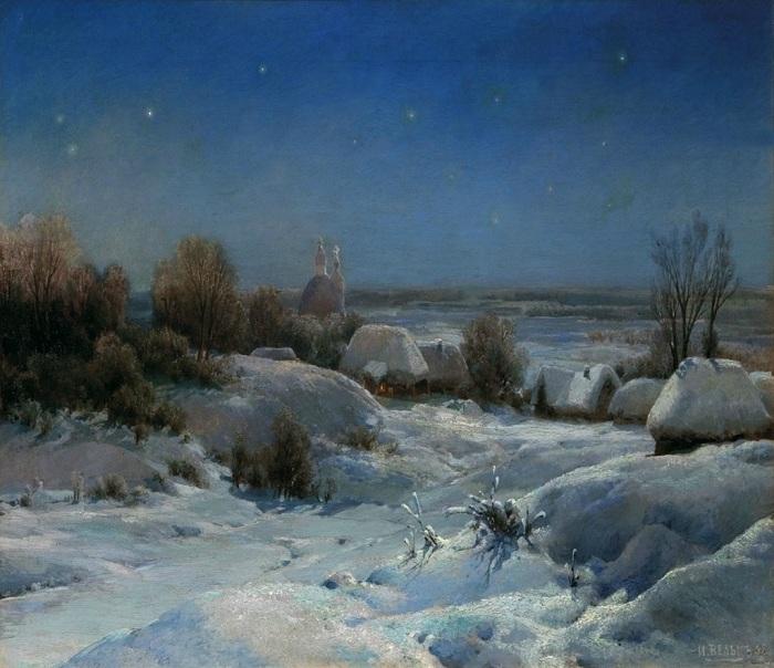 «Украинская ночь. Зима». (1898 год). Автор: Иван Вельц.