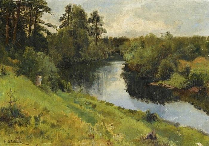 «Речной пейзаж». Автор: Иван Вельц.