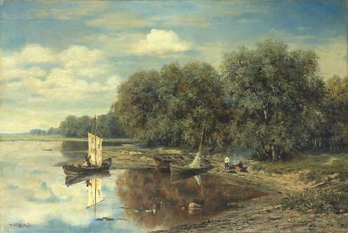 «Рыбацкие лодки». Автор: Иван Вельц.