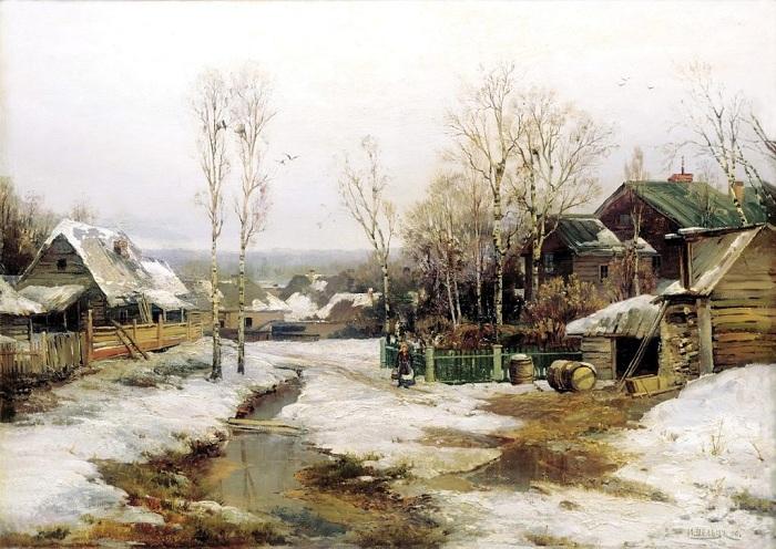 «Весна в окрестностях Петербурга». (1896 год). Автор: Иван Вельц.