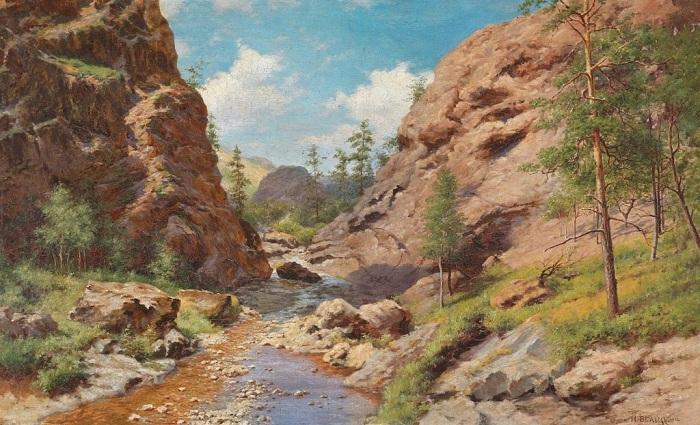 «В горах Крыма». (1902г). Автор: Иван Вельц.