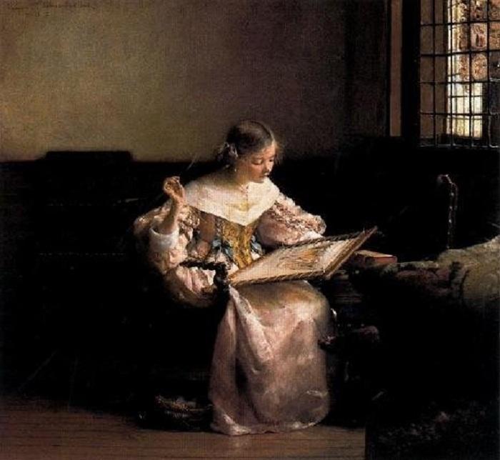Вышивальщица. (1904). Автор: Л.Альма-Тадема.