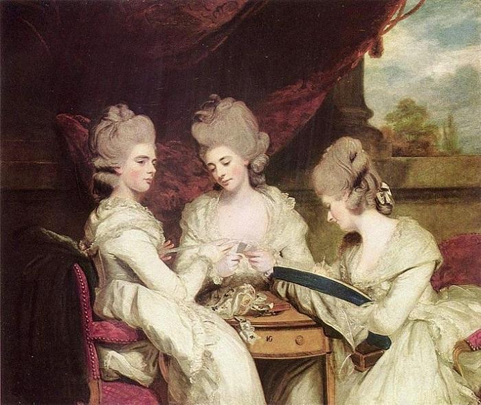 Портрет сестер Уолдгрейв. (1780). Автор: Reynolds, Sir Joshua.