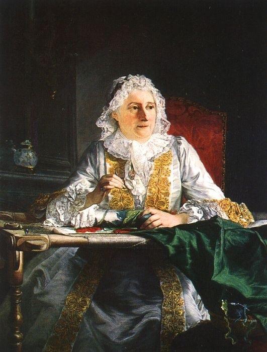 Портрет мадам Крозат. (1741). Автор: Jacques-Andre-Joseph.