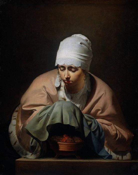 Девушка за вышиванием. Автор: Everdingen, Cesar Boetius