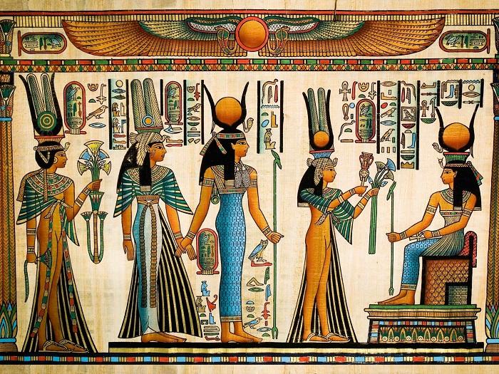 Древнеегипетский папирус.