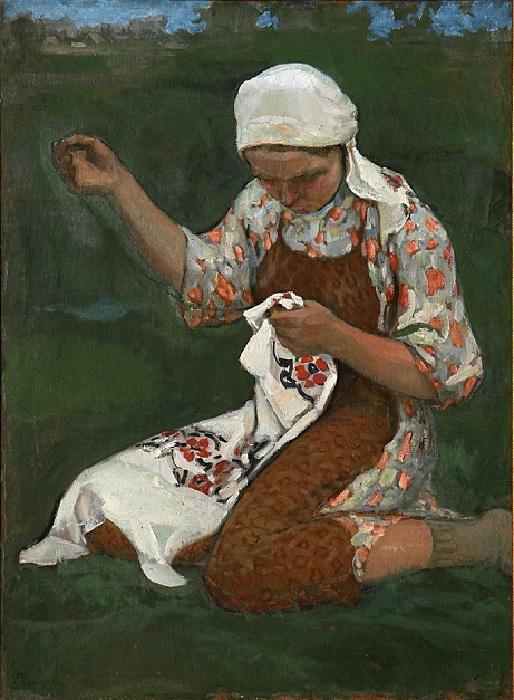 Вышивальщица. Автор: С.Н. Виноградов.