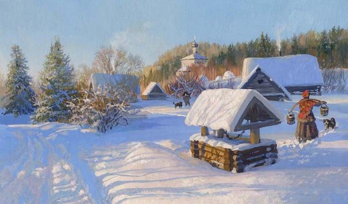 «Времена года. Январь». Автор: Владимир Жданов.