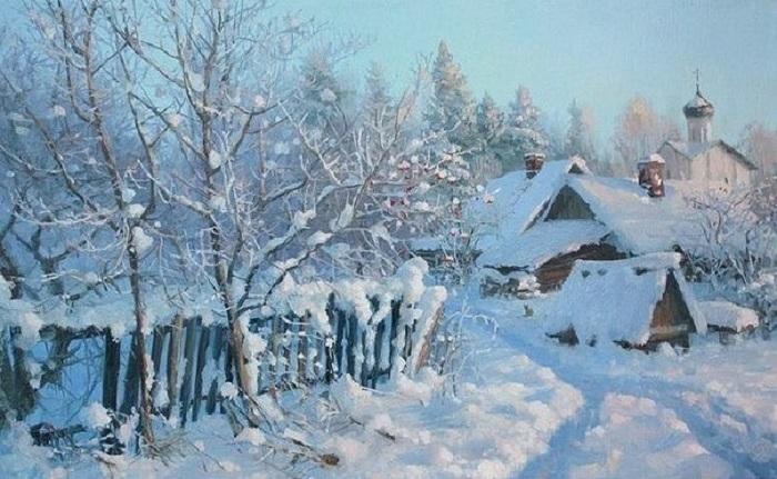 «Времена года. Февраль». Автор: Владимир Жданов.