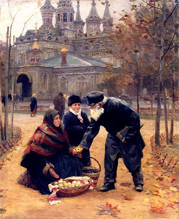 «Добрый дедушка». (1899 год). Автор: Николай Касаткин.